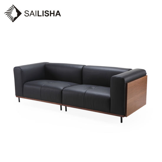 Nordic Modren Simple Design Home Genunin Office Leather Corner Sofa
