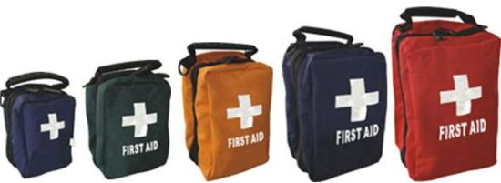 Easy Carry Empty First Aid Bag for Home, Travel, Auto Usage