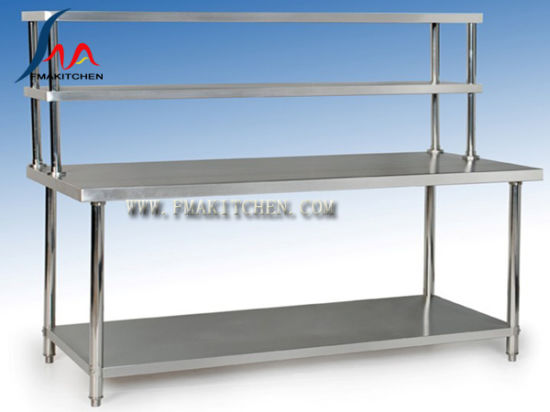 China Stainless Steel Table with 2 up Shelves /Assembing Working ...
