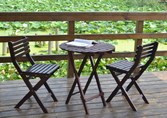 Outdoor Coffee Table And Chairs Folded, Wooden Table Chairs For Garden