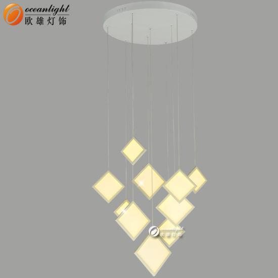 Square Shape Modern Design Small Chandelier Pendent Light for Living Room (OM66151-10)
