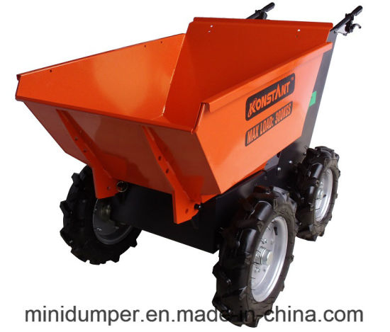 Ce Certificate Battery Power Barrow / Electric Battery Mini Dumper with 4WD Chain Drive System for Mining Construction and Farm Use pictures & photos