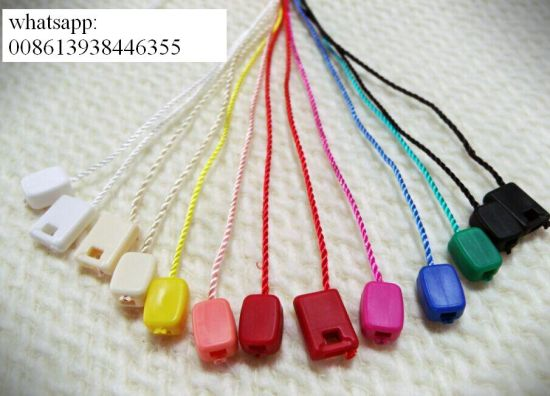 Factory Provided Garment Plastic Seal String Waxing Hang Tag By7260