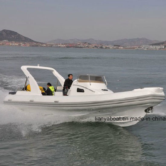 Liya 27ft Fiberglass Hull Motor Boat Inflatable Boat with CE