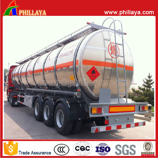 3 Axles Aluminum Truck Semi Tank Trailer for Sale pictures & photos