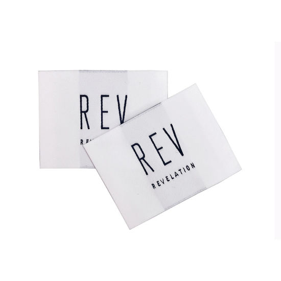 High Density First Class Quality Luxury Custom Brand Clothing Woven Labels for Garment