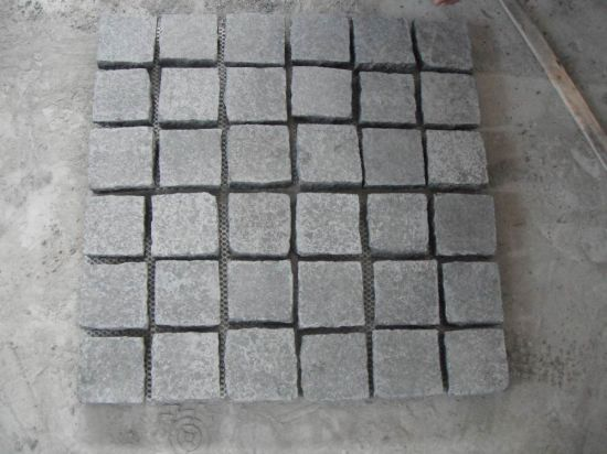 G684 Black Granite/Basalt Flamed/Natural Split Pavers/Cubes/Cobble/Paving Stone Cobblestone pictures & photos