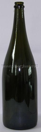 1500ml Dark Green Big Glass Champagne Bottle