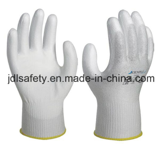 ISO Certified Manufacturer Personal Protective Equipment Durable Anti-Puncture Cut Resistant Safety Work Glove Coated with PU (PD8021)