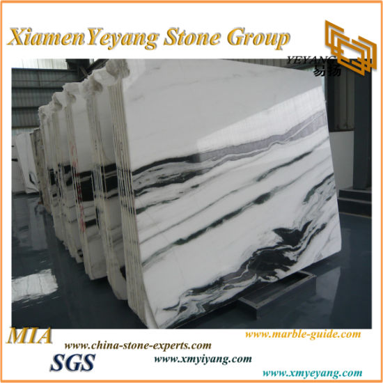 White Marble Panda White Marble Slab China Marble for Top pictures & photos