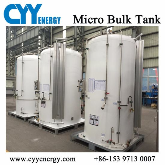 Liquid Oxygen/Nitrogen/Natural Gas/CO2 3m3 Storage Cryogenic Tank