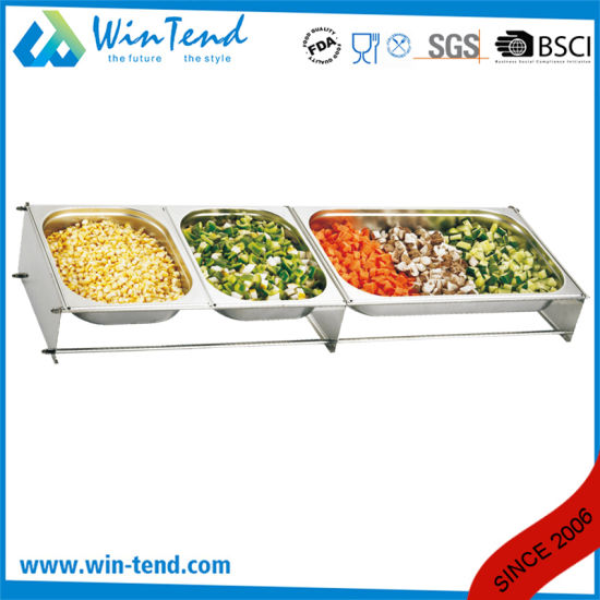China Commercial Stainless Steel Hotel Buffet Gn Gastronorm Pan