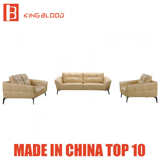 Beige Color Genuine Leather Sofa Set And Chair For Deals