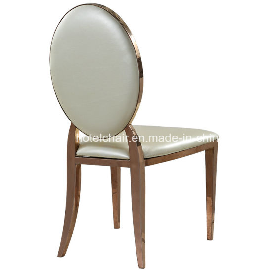 Modern Stainless Gold Oval Stainless Steel Wedding Chairs pictures & photos