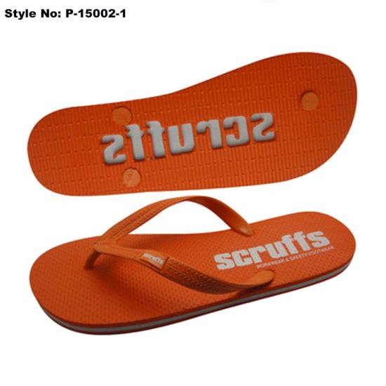 Summer PE Slipper with PVC Upper Unisex PE Flip Flops