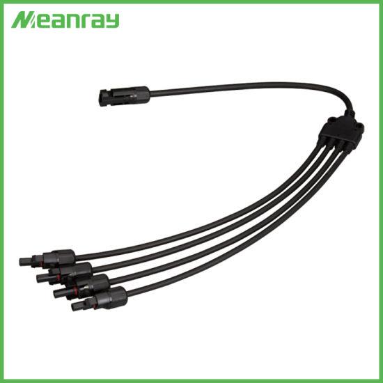T Branch Y Branch Mc4y 4 to 1 Solar PV Waterproof Connector with Solar Cable