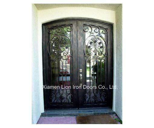 Wholesales Interior Square Top Custom Iron Front Doors Modern Style pictures & photos