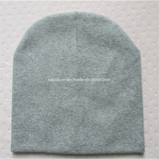Custom Logo Brand Baby Hat Solid Color Cotton Knitted Baby Boy Caps