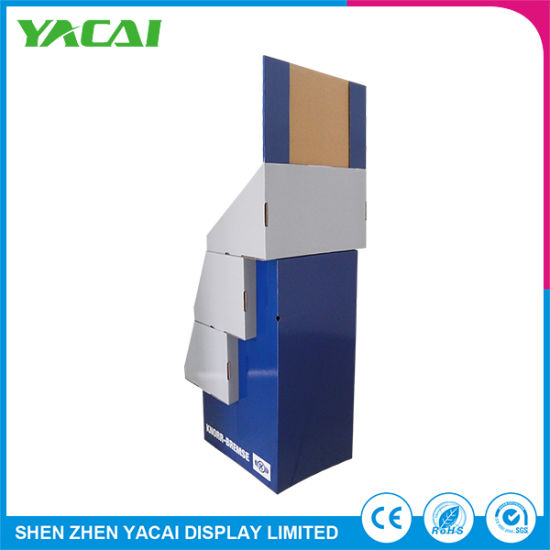 Wholesale Recycled Paper Security Floor Stand Display Rack pictures & photos