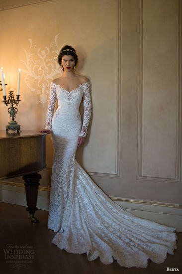 off-Shoulder Bridal Gowns Lace Backless Berta Wedding Dresses Z9020 pictures & photos