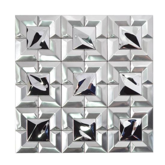 home decoration aluminum composite panel brushed metal mosaic tile
