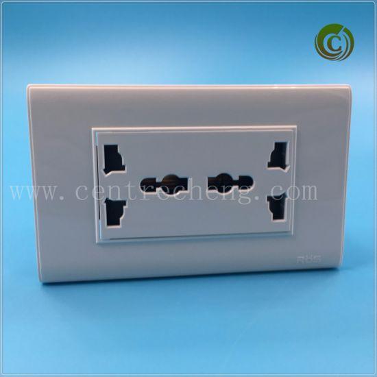 China 2018 Foshan Double Multifunction 3 Pin Plug Plastic Rectangle ...