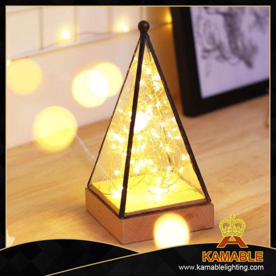 China Christmas Decoration Wholesale Cheap Wood Table Lighting Ka