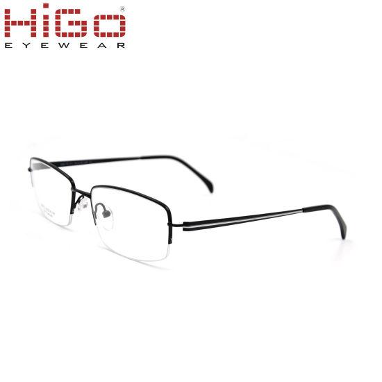 Trending China New Model Half Rim Titanium Eyeglasses Frame ...