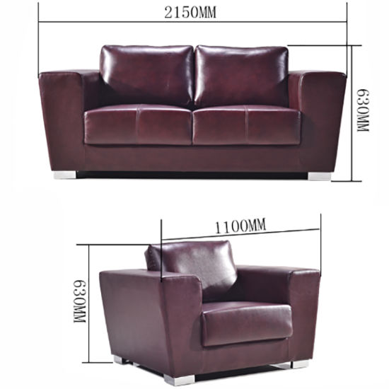 Royal Elegant Living Room Furniture Sets Office Sofa Leather Set