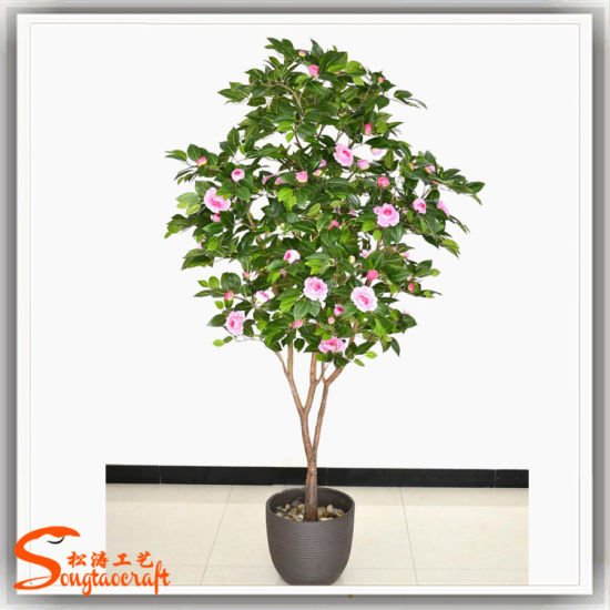 Artificial Camellia Flower Tree Bonsai Plants For Indoor Decoration China Artificial Plant And Artificial Peony Tree Price Made In China Com