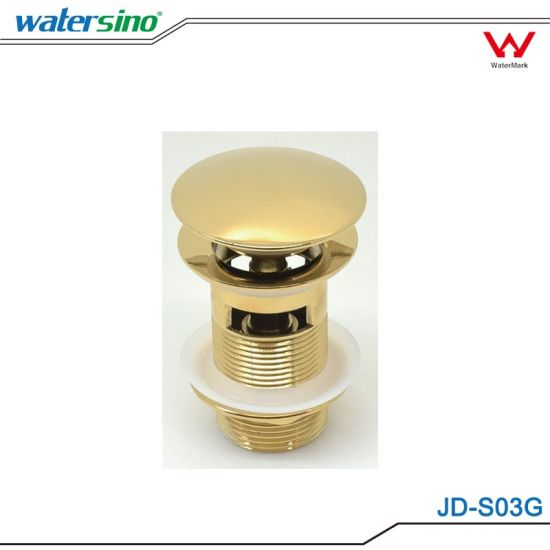 Gold Plated Pop-up Basin Waste with Overflow for Project