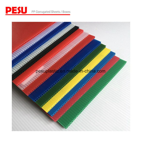 Colored Corrugated Plastic Sheet for Industrial Packaging and Recycle Boxes