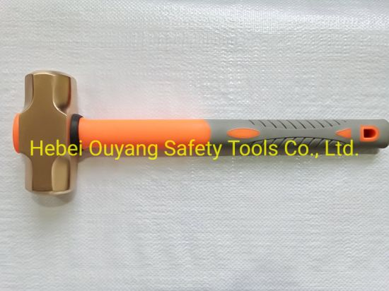 Non Sparking Hammer Sledge 2000g Be-Cu Al-Cu Atex Safety Tools
