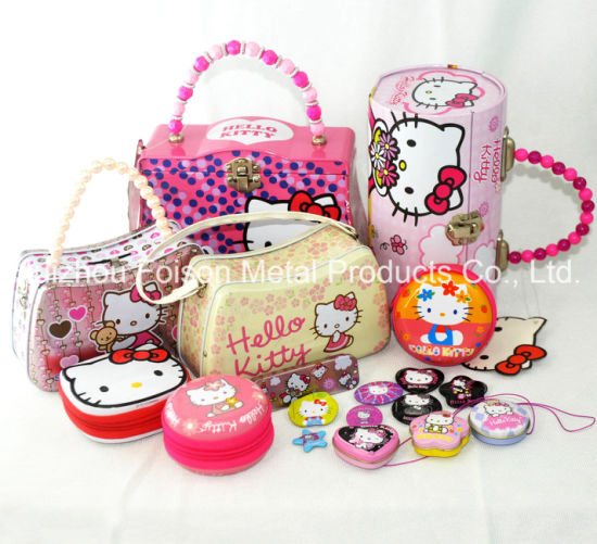 Wholesale Customized Cute Gift Tin Box with Handle for Candy
