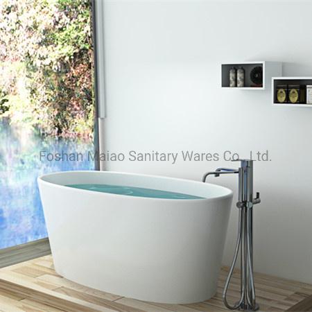 Bathroom Luxury Solid Surface/Stone Resin Bathtub in Round Shape (BS-8602)