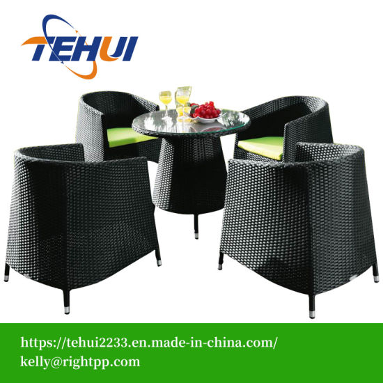 Cafe Set Rattan Dining Table 4 People pictures & photos
