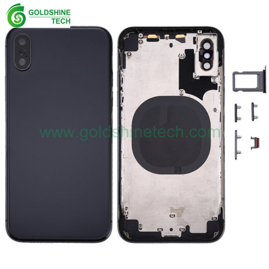 Wholesale Mobile Phone Cases for iPhone X Back Housing Cover with Small Parts