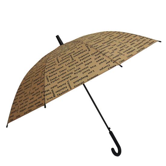 Straight Transparent Plastic Umbrella Poe PVC Umbrella (YZ-19-68)