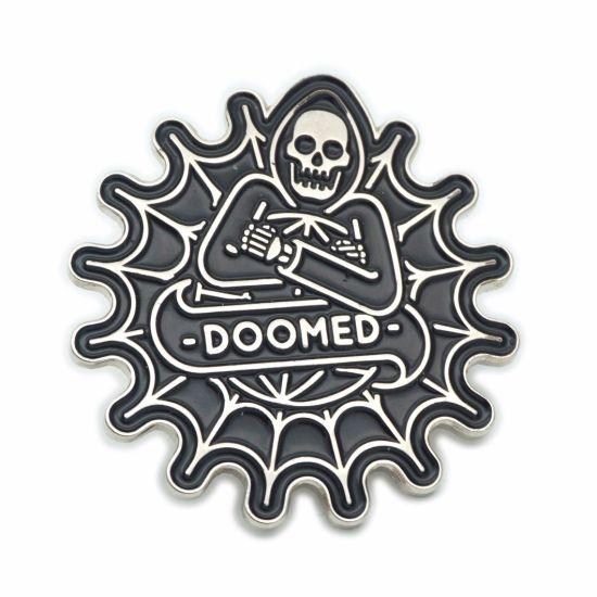 No Minimum Bulk Soft Enamel Metal Pin Skull Badge Experienced Manufacturer Free Sample Custom Logo Cloisonne Lapel Pin (A2101059)