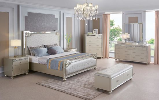 China Modern Simplicity Bedroom Furniture Set For Sale With High Standard China Bed Bedroom Furniture