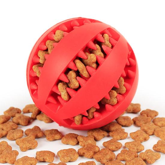 Natural Indestructible Soft Pet Toy Pet Food Ball Dog Chew Rubber Ball