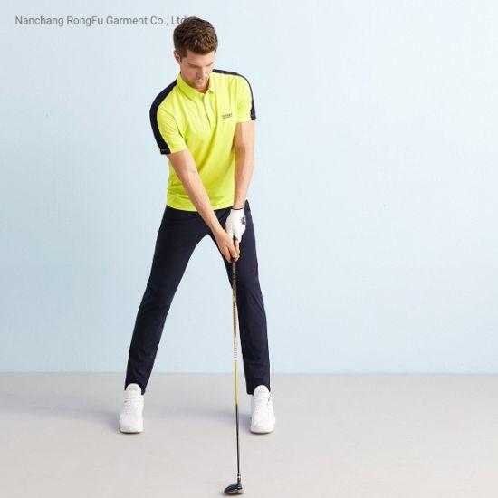 Sports Golf Fashion Color Micro Bullet Comfortable Men's T Shirt Short Sleeve