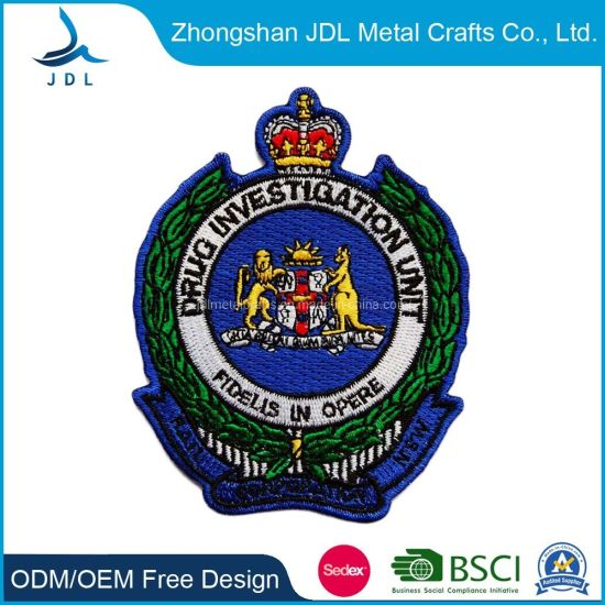 Wholesale New Style Custom Uscgc Adak Logo Embroidery Patch (016)