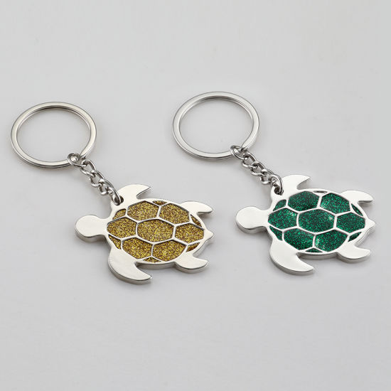 Hot Sell Promotion Gift Custom Turtle Shape Soft Enamel Logo Zinc Alloy Metal Keychain