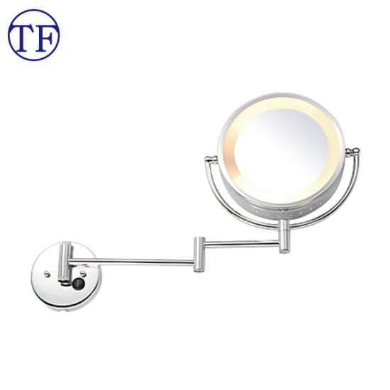 China Dual Side Wall Mounted Bathroom Magnification Vanity Mirrors