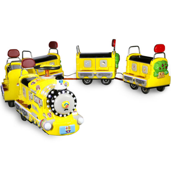 Mall Kiddie Rides Electric Trackless Mini Train Amusement Equipment for Kids and Parents pictures & photos