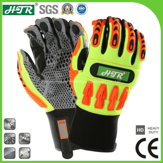 Anti-Slip Impact Resistant Industrial Mechanical Safety Labor Protective Work Glove with TPR