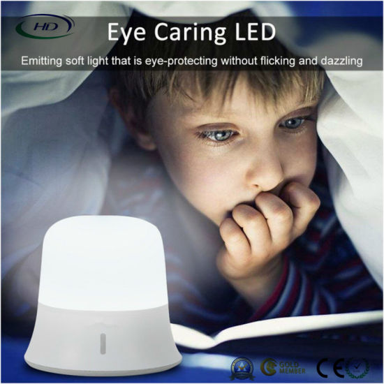 LED Night Light USB Rechargeable Silicone Nursery Camping Pat Light pictures & photos