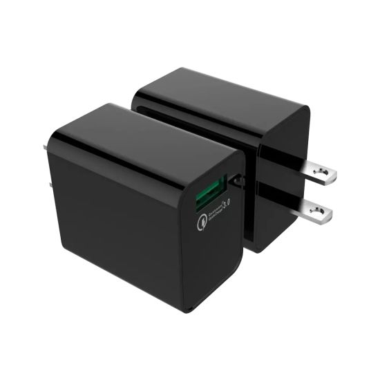 18W Fast Travel Charger Quick Charger with Output 5V3a 9V2a, 12V1.5A QC3.0 Wall Charger for iPhone