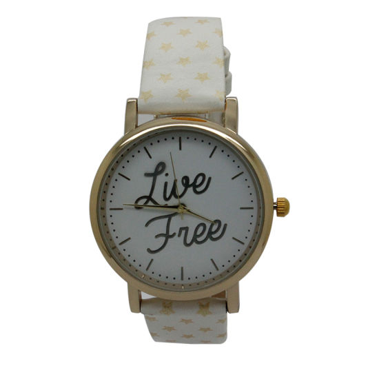 Hot Sale Promotional Quartz Simple Leather Watch with Cheap Price (JY-HP023) pictures & photos